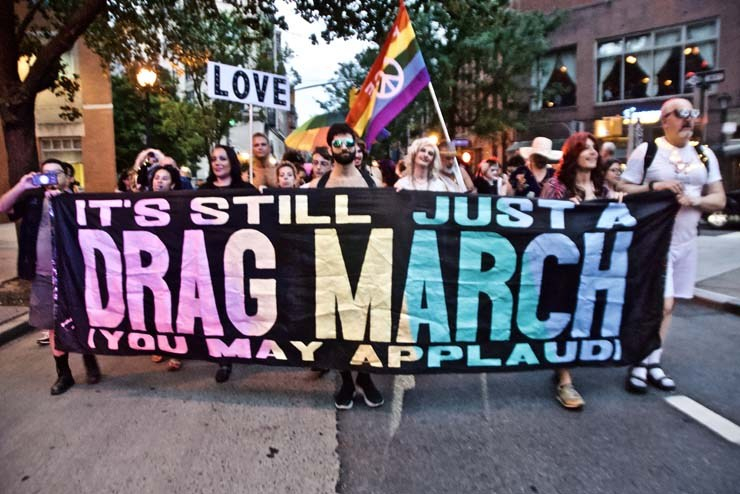 NYC Drag March 2018. Photo credit TheDustyRebel