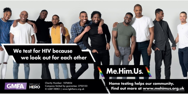 GMFA's ground-breaking HIV testing campaign 'Me. Him. Us.' has returned to the streets of London.